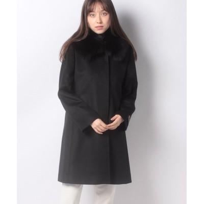 (Riamasa/リアマッサ)カシミヤコート(フォックス衿)/レディース ブラック