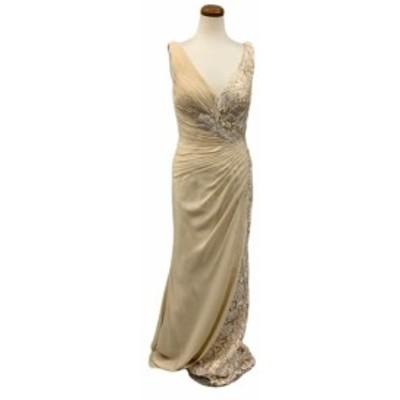 JEANMACLEAN ドレス ジャンマクレーン キャバドレス ナイトドレス ロングドレス jean maclean ベージュ 9号 M 91699 クラブ スナック キ