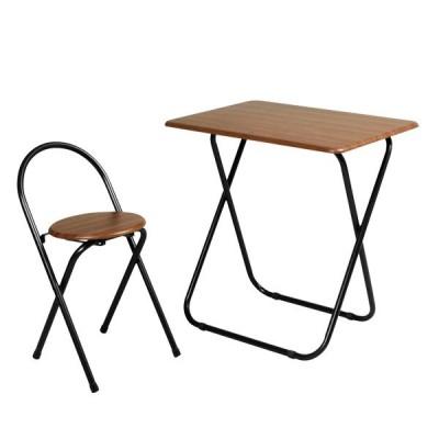 フォールディングテーブルセット(7050)ブラウン