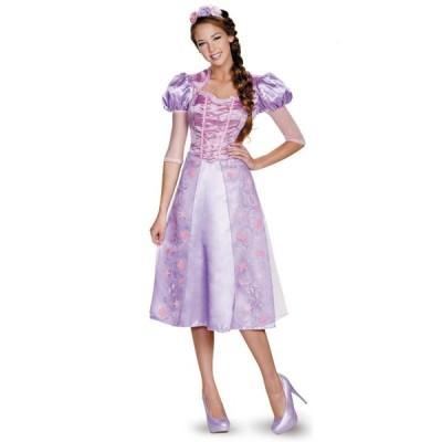 ラプンツェル 衣装 ドレス コスプレ コスチューム 大人 女性用 ディズニープリンセス 仮装 グッズ