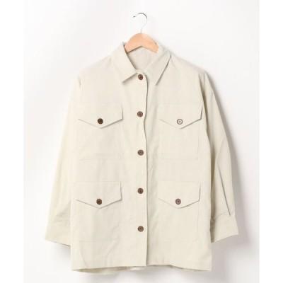 シャツ ブラウス コーデュロイ4ポケットシャツジャケット