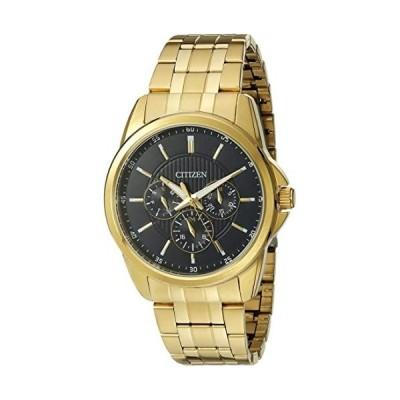 CITIZEN シチズン ゴールド ステンレス ブラック クオーツ 海外モデル 逆輸入 メンズ 腕時計 ag8342-52l