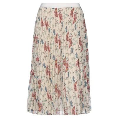 セミクチュール SEMICOUTURE 7分丈スカート ベージュ 44 ポリエステル 100% 7分丈スカート