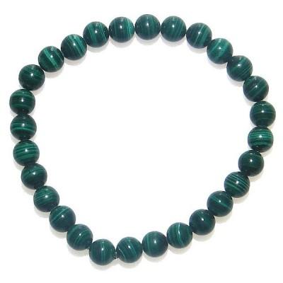 AA 縞模様が美しい マラカイト (孔雀石) 6mm ブレスレット 12月 誕生月 ギフト 孔雀石 数珠 念珠 天然石 ジュエリー