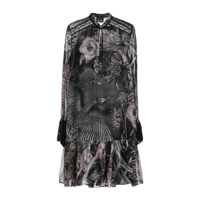 JUST CAVALLI シルクドレス ファッション  レディースファッション  ドレス、ブライダル  パーティドレス 鉛色