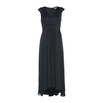 ペゼリコ PESERICO ロングワンピース&ドレス ダークブルー 40 ポリエステル 100% / レーヨン ロングワンピース&ドレス