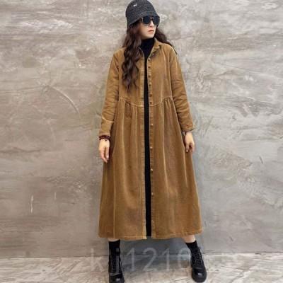 コートレディースロングコート30代40代オシャレ秋アウター女性大人韓国風ジャケットOL通勤ゆったりウインドブレーカー