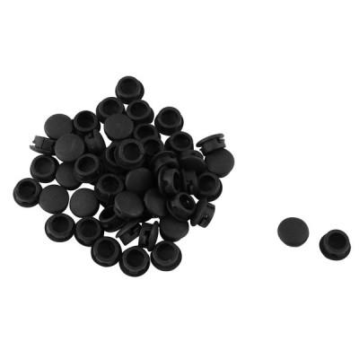 uxcell 家具脚カバー 防音 傷防止 プラグキャップ ブラック プラスチック製 50個入り