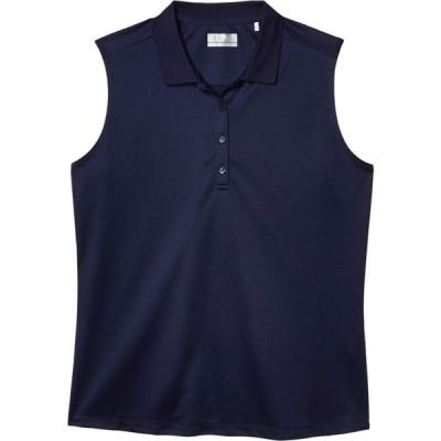 キャロウェイ Callaway レディース ノースリーブ ポロシャツ トップス Sleeveless Essential Solid Knit Polo Peacoat