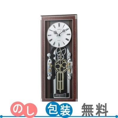 リズム メロディ電波からくり掛時計(30曲入) 4MN535SR23 ギフト包装・のし紙無料 (A3)