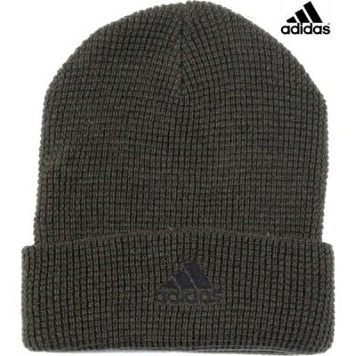 アディダス(adidas) ニット帽 ワッフル ビーニー ニットキャップ KNIT CAP 114-711 502 51ダークグリーン フリーサイズ 57〜60cm