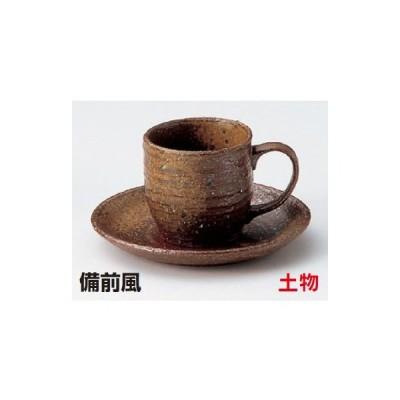 備前風コーヒー碗皿(土物) 6点セット【業務用】