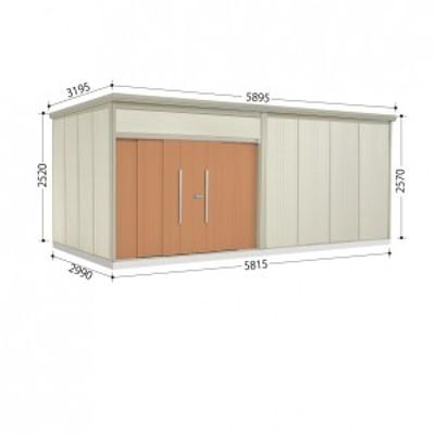 物置 屋外 おしゃれ タクボ物置 JN/トールマン JN-5829 一般型 標準屋根 トロピカルオレンジ