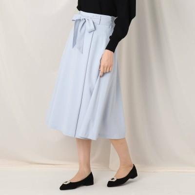 クチュール ブローチ Couture brooch ウエストリボンラップ風フレアスカート (サックス)