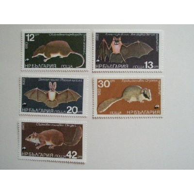 ブルガリア 切手 1983 動物保護法 指定 保護動物 − 哺乳類 3279