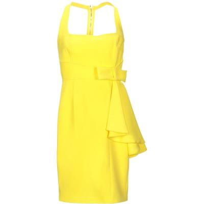 MANGANO ミニワンピース&ドレス イエロー 44 ポリエステル 88% / ポリウレタン 12% ミニワンピース&ドレス