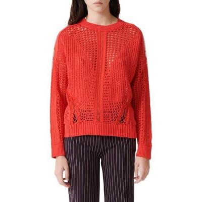 マージュ ニット&セーター アウター レディース Mazet Open Crochet Sweater Red