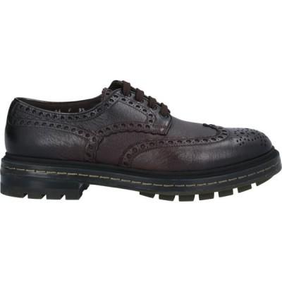 サントーニ SANTONI メンズ 革靴・ビジネスシューズ シューズ・靴 Laced Shoes Dark brown