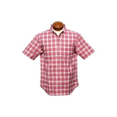 マクレガー ボタンダウン半袖シャツ メンズ 111161201 タータンチェック半袖シャツ L