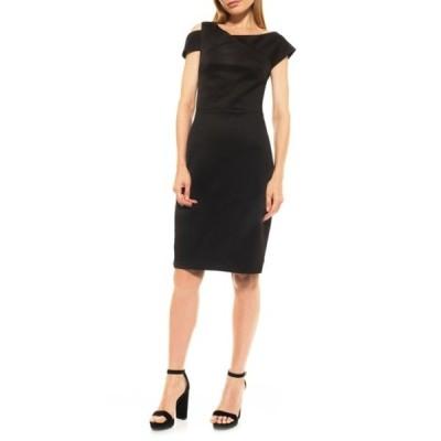 アレクシアアドマー レディース ワンピース トップス Clara Shoulder Cutout Sheath Dress BLACK