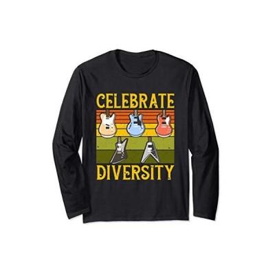 多様性を祝うエレキギター愛好家のギフト 長袖Tシャツ