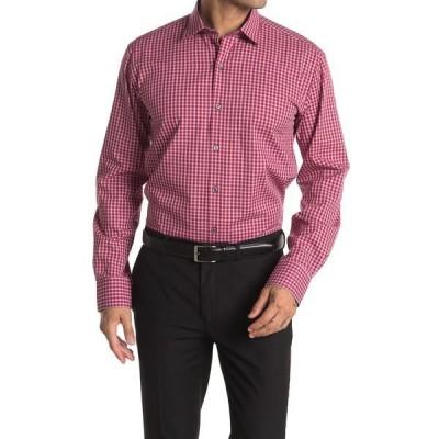 ブガッチ メンズ シャツ トップス Gingham Shaped Fit Shirt RUBY
