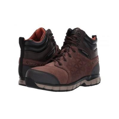 Reebok Work リーボック メンズ 男性用 シューズ 靴 ブーツ ワークブーツ Sublite Cushion Work - RB4606 Comp Toe - Brown