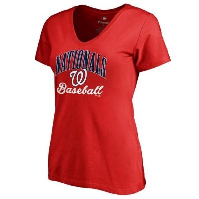 レディース スポーツリーグ メジャーリーグ Washington Nationals Women's Victory Script T-Shirt - Red Tシャツ