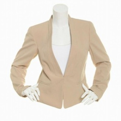 Nine West ナインウエスト ファッション 衣類 Nine West Womens Jacket Beige Size 6 Basic Long Sleeve Kiss Front