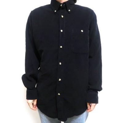 古着 コーデュロイシャツ ボタンダウン ブラック サイズ表記:S