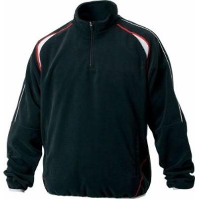 ゼット フリースジャケット 立衿ハーフジップ 裏地付き 野球 ソフトボール BOF110A-1900
