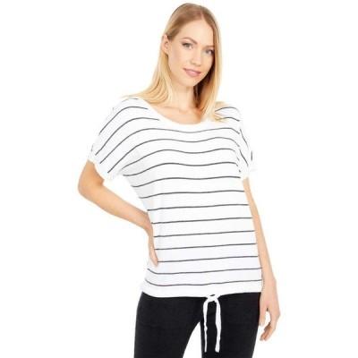 ベアフットドリームス レディース シャツ トップス Cozychic Ultra Lite Striped Pullover