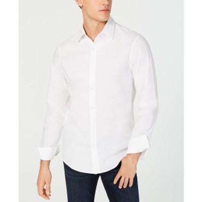 マイケルコース メンズ シャツ トップス Men's Stretch Shirt White