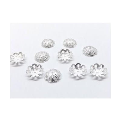 ビーズキャップ 白銀 20個入り ph-0408
