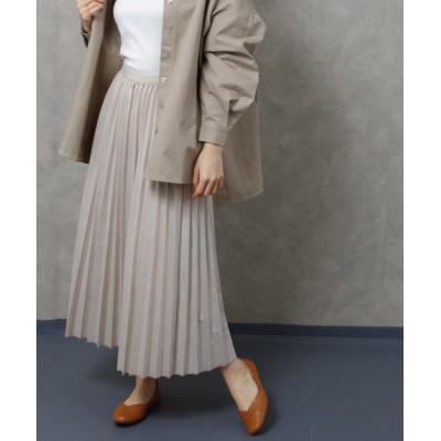【フィズ】 PUコーティングプリーツロングスカート tw SS レディース アイボリー M Fizz
