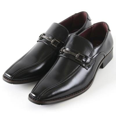 【クーポン配布中】HIROKO KOSHINO ヒロコ コシノ 9807 ビジネス メンズ ブラック 24.5〜27,28cm 靴 シューズ ヒモ無し