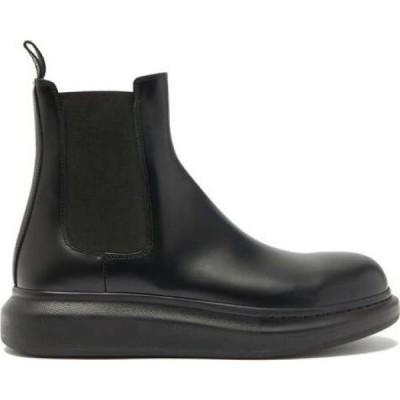 アレキサンダー マックイーン Alexander McQueen メンズ ブーツ チェルシーブーツ シューズ・靴 Hybrid exaggerated-sole leather Chelsea boots Black