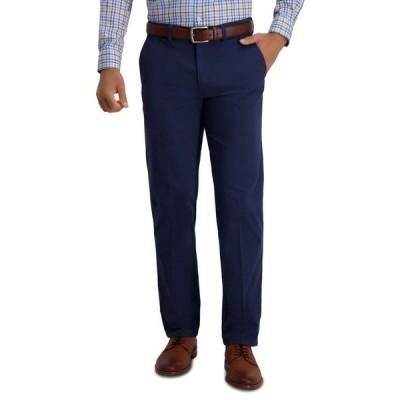 ハガー メンズ カジュアルパンツ ボトムス Men's Modern Straight Fit Super Flex Casual Pants
