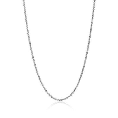 Sterling Silver 1mm Thin Cable Rolo Chain Necklace, 20 Inches