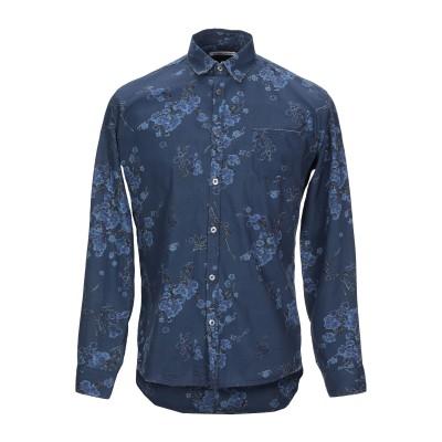 グレイ ダニエレ アレッサンドリーニ GREY DANIELE ALESSANDRINI シャツ ブルー 40 コットン 100% シャツ