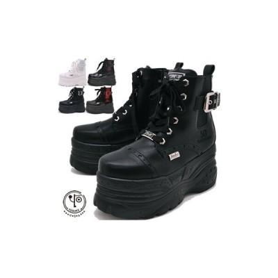 厚底スニーカー レディース ハイカット メダリオンの厚底ブーツタイプ ヨースケ YOSUKE 靴