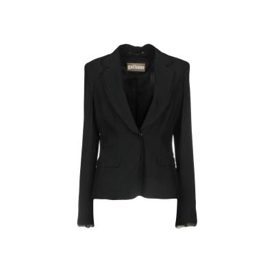 ガリアーノ GALLIANO テーラードジャケット ブラック 42 54% レーヨン 46% アセテート テーラードジャケット
