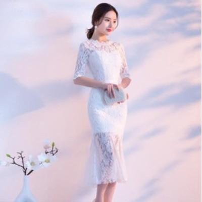 ロングドレスパーティードレスAラインオシャレレディースドレス上品ドレスフレア上品二次会ドレス着痩せマーメイドドレス