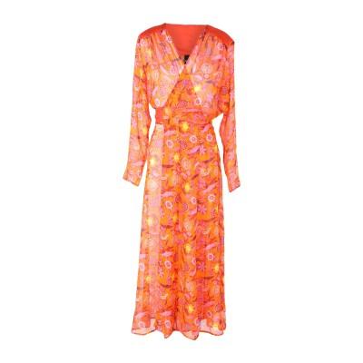 MIMI LIBERTÉ by MICHEL KLEIN ロングワンピース&ドレス オレンジ 38 シルク 100% ロングワンピース&ドレス