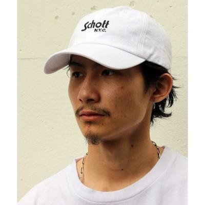 帽子 キャップ Schott/ショット/COTTON TWILL CAP BASIC LOGO/コットン ツイル ベーシックキャップ