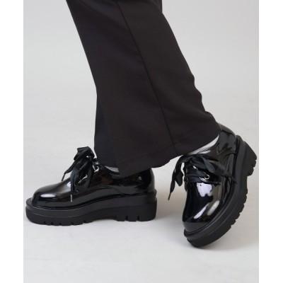 SPINNS / エコレザー 3ホールショート厚底ブーツ WOMEN シューズ > ブーツ