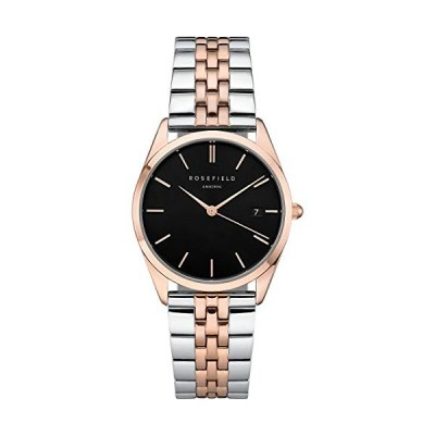 Rosefield Women's Watch The Ace Black Silver Rose Gold ACBSD-A07 並行輸入品