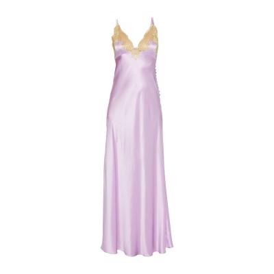ROSAMOSARIO ロングワンピース&ドレス ライラック XL シルク 100% ロングワンピース&ドレス