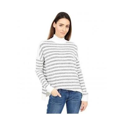 Lucky Brand ラッキーブランド レディース 女性用 ファッション セーター Cloud Jersey Turtleneck - Grey Stripe