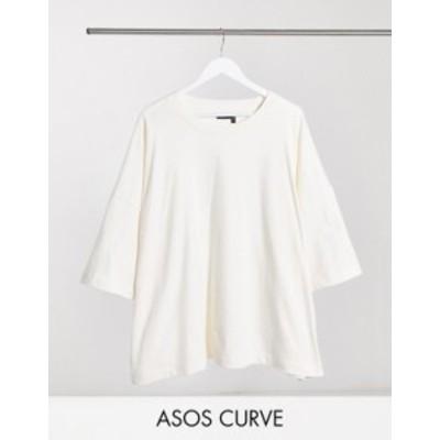 エイソス レディース シャツ トップス ASOS DESIGN Curve super oversized T-shirt in bone Bone
